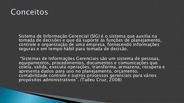 Sistema de informação gerencial Slide 3