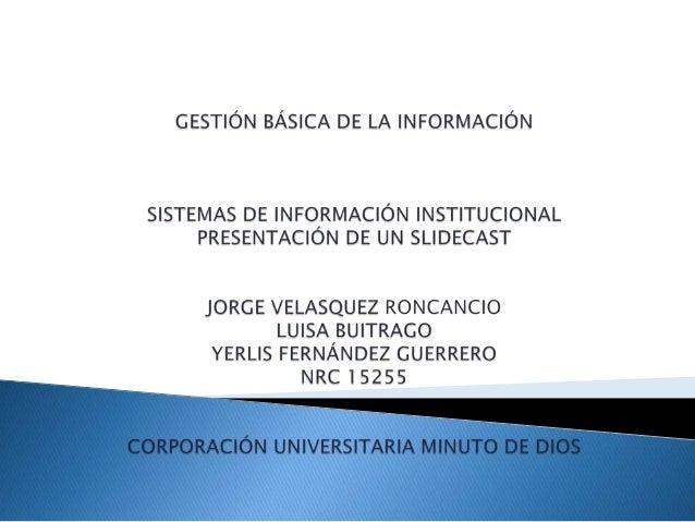 La Corporación Universitaria Uniminuto tiene como misión:  Ofrecer Educación Superior de alta calidad, de fácil acceso, i...