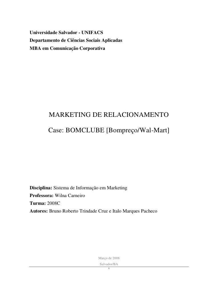Universidade Salvador - UNIFACS Departamento de Ciências Sociais Aplicadas MBA em Comunicação Corporativa              MAR...