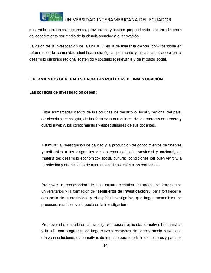 UNIVERSIDAD INTERAMERICANA DEL ECUADORdesarrollo nacionales, regionales, provinciales y locales propendiendo a la transfer...