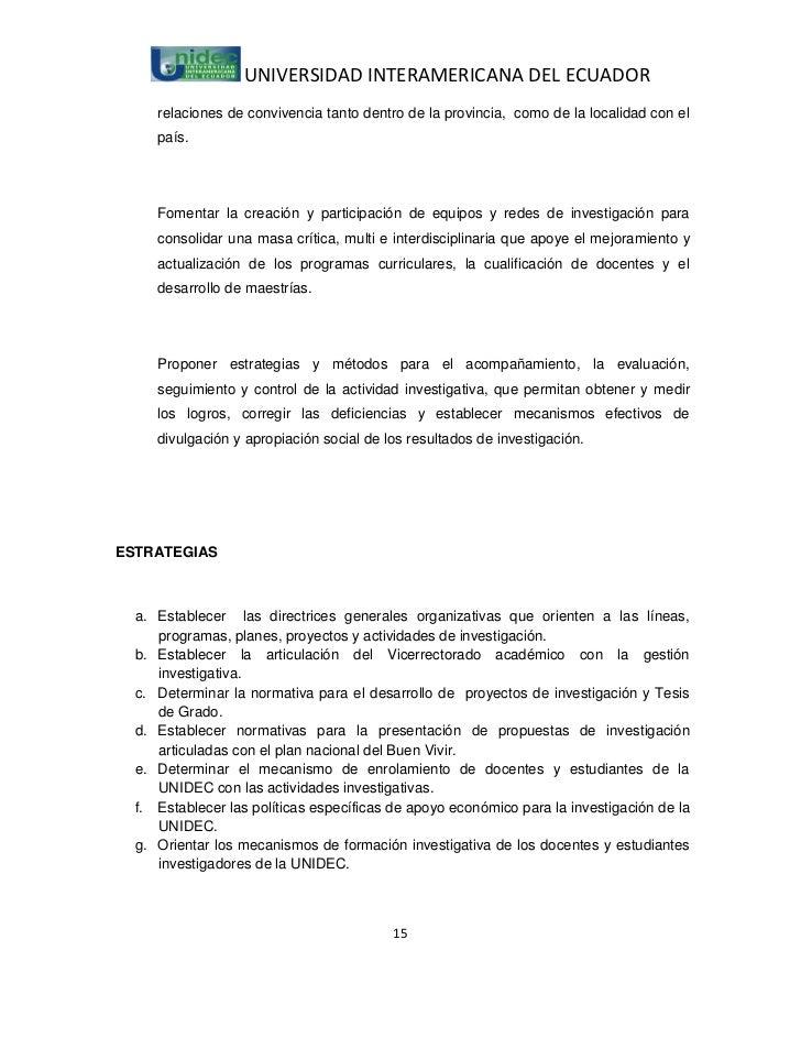 UNIVERSIDAD INTERAMERICANA DEL ECUADOR     relaciones de convivencia tanto dentro de la provincia, como de la localidad co...