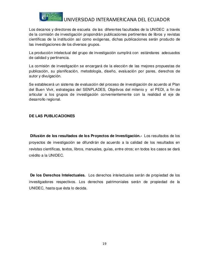 UNIVERSIDAD INTERAMERICANA DEL ECUADORLos decanos y directores de escuela de las diferentes facultades de la UNIDEC a trav...