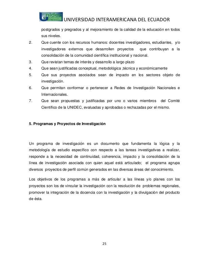 UNIVERSIDAD INTERAMERICANA DEL ECUADOR       postgrados y pregrados y al mejoramiento de la calidad de la educación en tod...