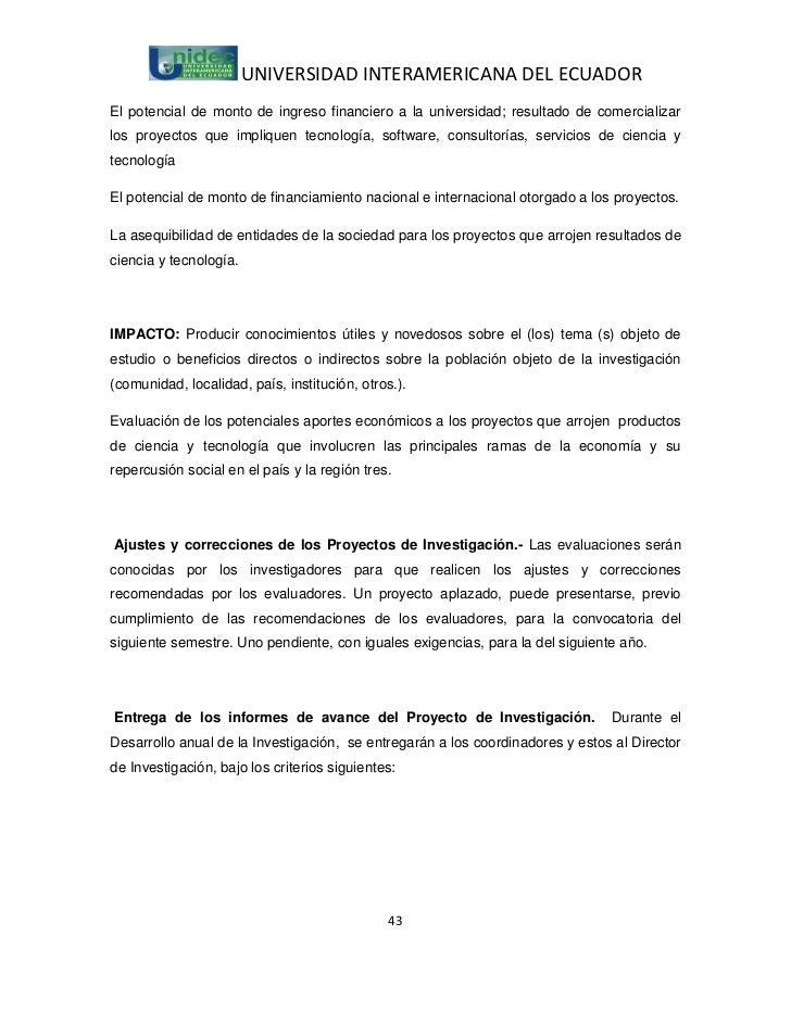 UNIVERSIDAD INTERAMERICANA DEL ECUADOREl potencial de monto de ingreso financiero a la universidad; resultado de comercial...