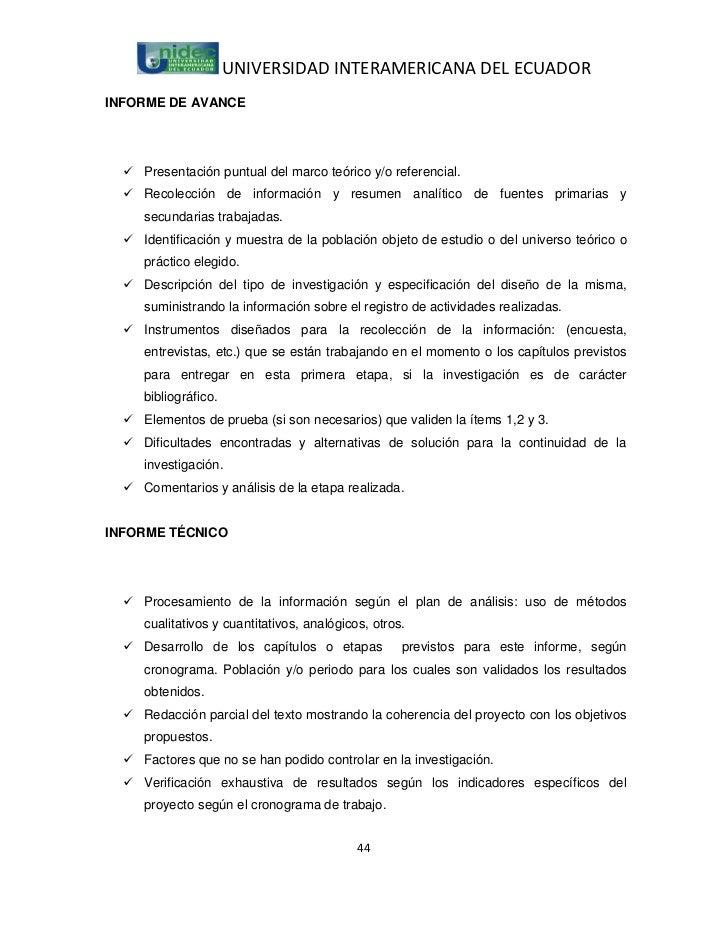 UNIVERSIDAD INTERAMERICANA DEL ECUADORINFORME DE AVANCE   Presentación puntual del marco teórico y/o referencial.   Reco...