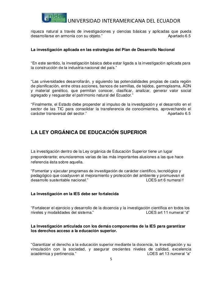 UNIVERSIDAD INTERAMERICANA DEL ECUADORriqueza natural a través de investigaciones y ciencias básicas y aplicadas que pueda...