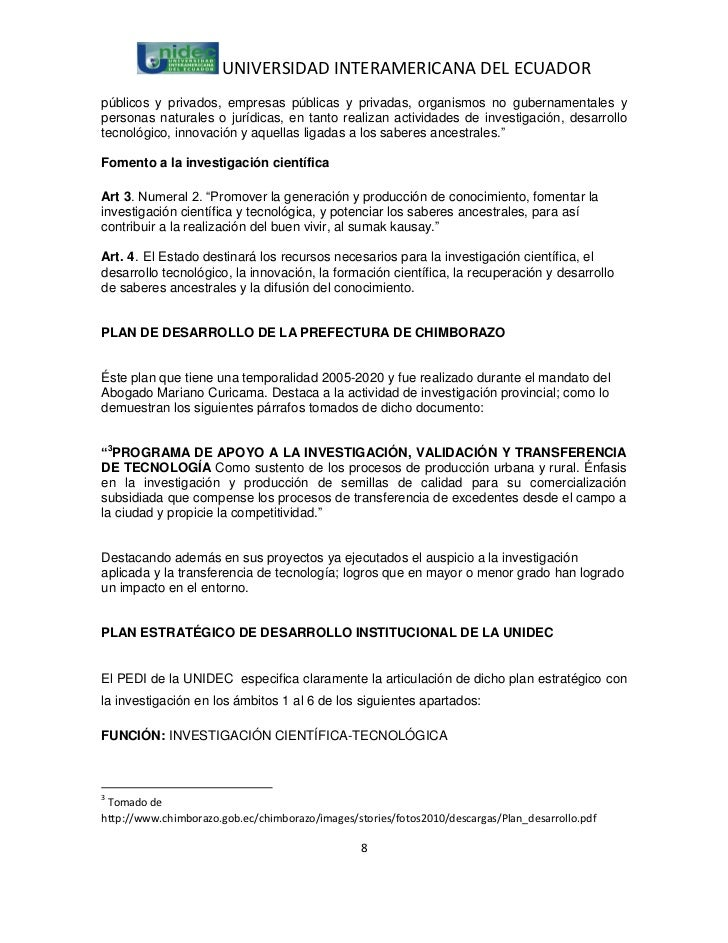 UNIVERSIDAD INTERAMERICANA DEL ECUADORpúblicos y privados, empresas públicas y privadas, organismos no gubernamentales ype...