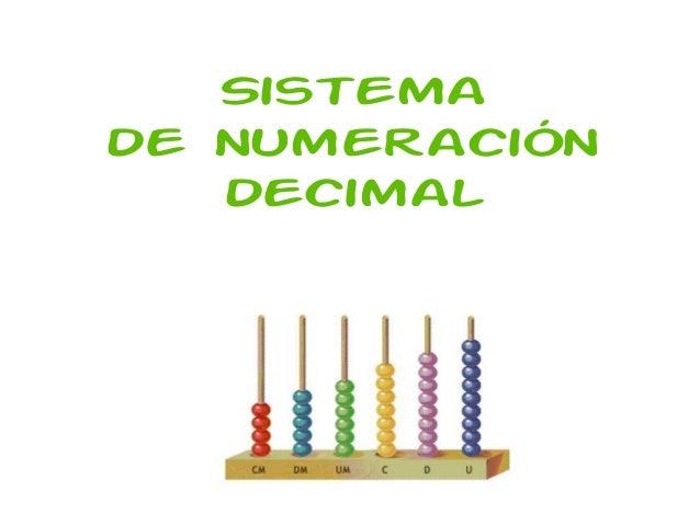 Sistemade numeración   decimal
