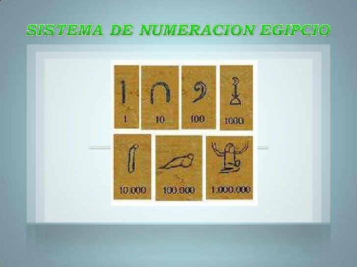 SISTEMA DE NUMERACION EGIPCIO<br />