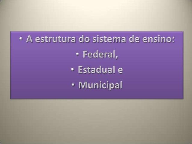 Sistema de organização educaçao brasileira Slide 2