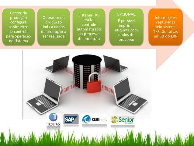 Informações capturadas pelo sistema TKS são salvas no BD do ERP OPCIONAL: É possível imprimir etiqueta com dados do proces...