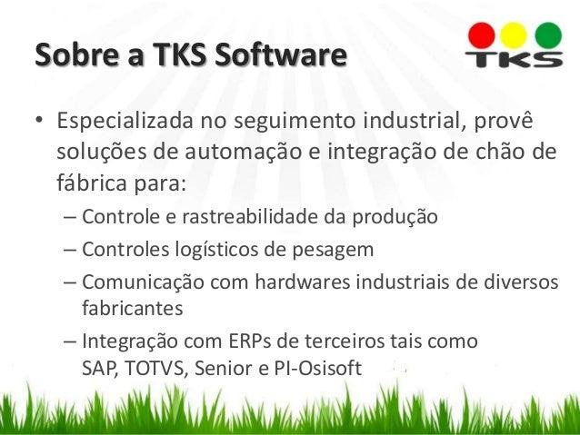 • Especializada no seguimento industrial, provê soluções de automação e integração de chão de fábrica para: – Controle e r...