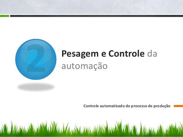 Pesagem e Controle da automação Controle automatizado do processo de produção
