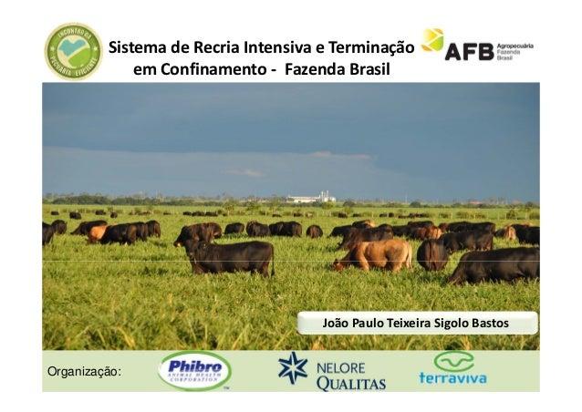 SistemadeRecria Intensiva eTerminação             em Confinamento‐ FazendaBrasil                                    J...