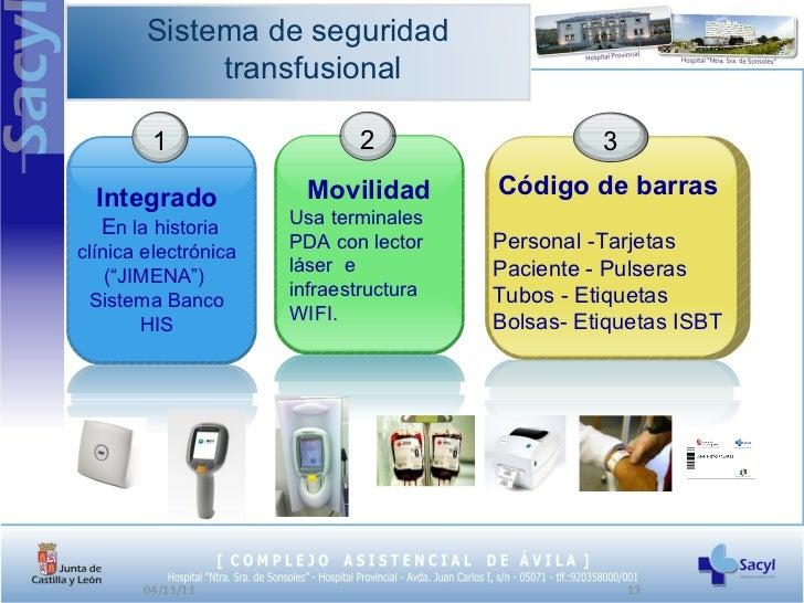 Sistema de seguridad transfusional - Sistemas de seguridad ...