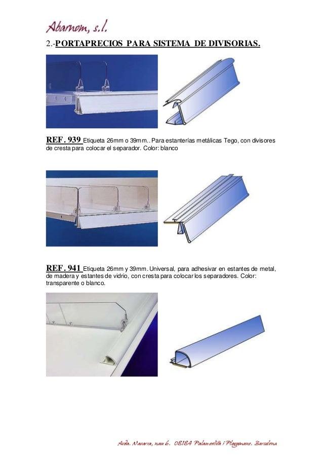 Separadores Para Estanterias Metalicas.Sistema De Separadores Abarnom Equipamiento Comercial