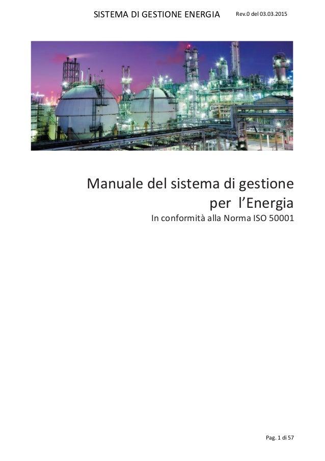 SISTEMA DI GESTIONE ENERGIA Rev.0 del 03.03.2015 Pag. 1 di 57 Manuale del sistema di gestione per l'Energia In conformità ...
