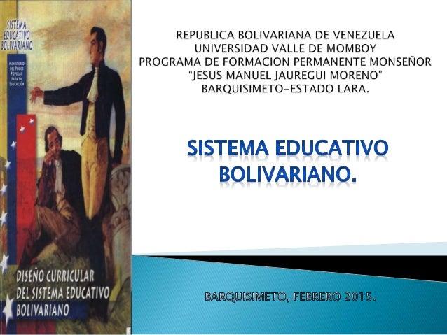 Conjunto Orgánico. Carácter Social de la Educación. Subsistemas. Liseth Chacón