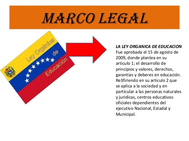Sistema educativo venezolano y su marco legal