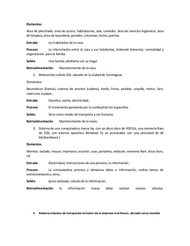Sistema ejemplos