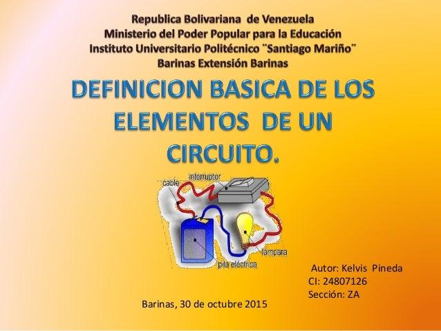 Autor: Kelvis Pineda CI: 24807126 Sección: ZA Barinas, 30 de octubre 2015
