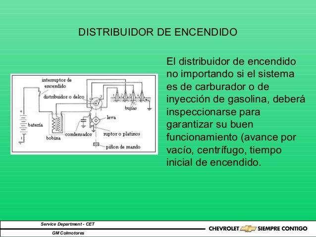 DISTRIBUIDOR DE ENCENDIDO Service Department