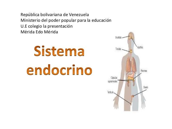 República bolivariana de Venezuela<br />Ministerio del poder popular para la educación<br />U.E colegio la presentación<br...