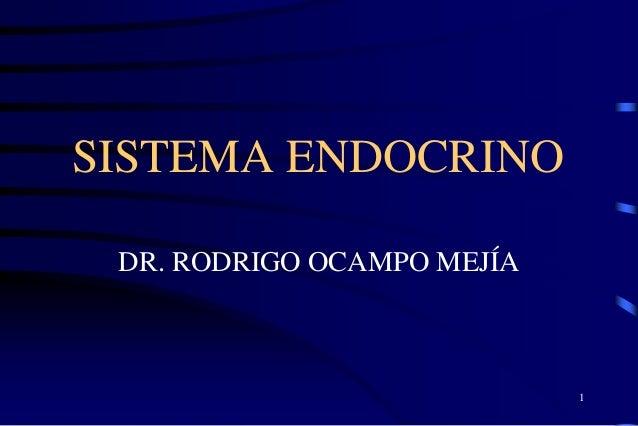 SISTEMA ENDOCRINO DR. RODRIGO OCAMPO MEJÍA 1