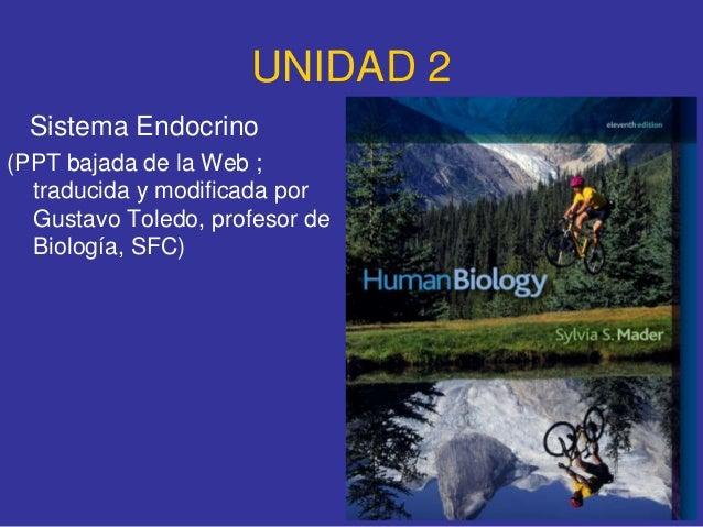 UNIDAD 2  Sistema Endocrino(PPT bajada de la Web ;  traducida y modificada por  Gustavo Toledo, profesor de  Biología, SFC)