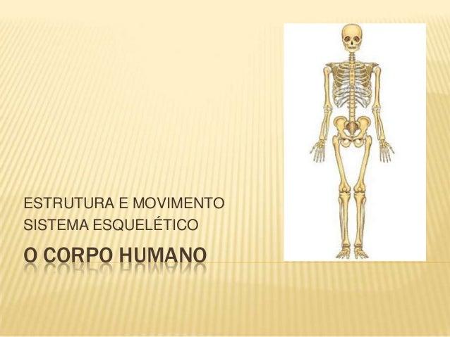 ESTRUTURA E MOVIMENTOSISTEMA ESQUELÉTICOO CORPO HUMANO