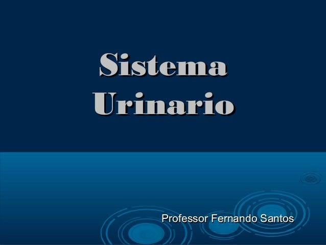 SistemaSistema UrinarioUrinario Professor Fernando SantosProfessor Fernando Santos