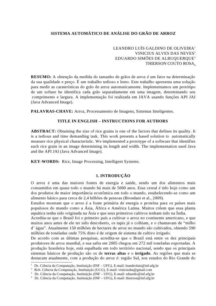 SISTEMA AUTOMÁTICO DE ANÁLISE DO GRÃO DE ARROZ                                                           LEANDRO LUÍS GALD...