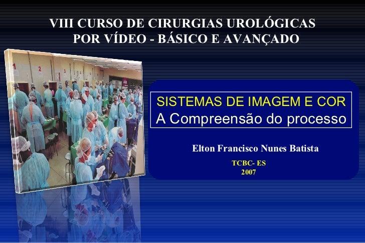 VIII CURSO DE CIRURGIAS UROLÓGICAS    POR VÍDEO - BÁSICO E AVANÇADO             SISTEMAS DE IMAGEM E COR             A Com...