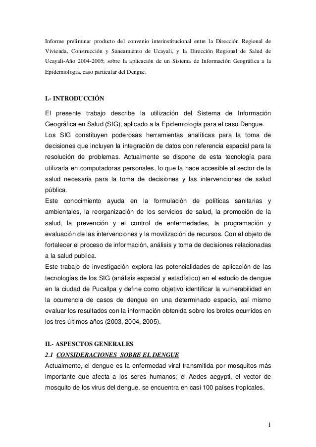 Informe preliminar producto del convenio interinstitucional entre la Dirección Regional deVivienda, Construcción y Saneami...