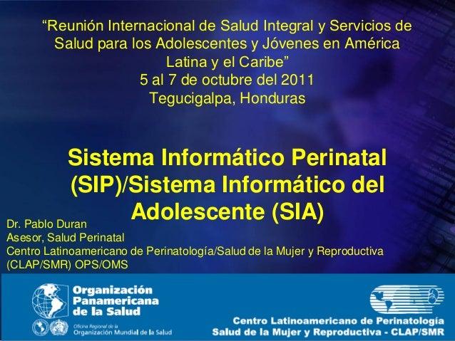 """""""Reunión Internacional de Salud Integral y Servicios de Salud para los Adolescentes y Jóvenes en América Latina y el Carib..."""