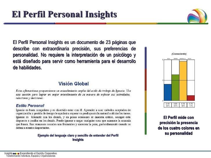 El Perfil Personal Insights El Perfil Personal Insights es un documento de 23 páginas que describe con extraordinaria prec...