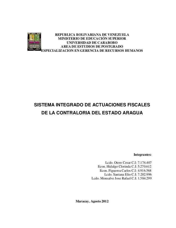 REPUBLICA BOLIVARIANA DE VENEZUELA          MINISTERIO DE EDUCACIÓN SUPERIOR              UNIVERSIDAD DE CARABOBO         ...