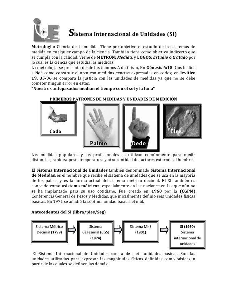 68580-288290    Sistema Internacional de Unidades (SI)<br />Metrología: Ciencia de la medida. Tiene por objetivo el estudi...