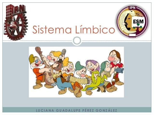 Sistema Límbico  LUCIANA GUADALUPE PÉREZ GONZÁLEZ