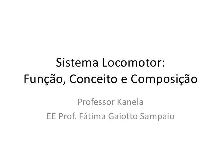 Sistema Locomotor: Função, Conceito e Composição Professor Kanela EE Prof. Fátima Gaiotto Sampaio