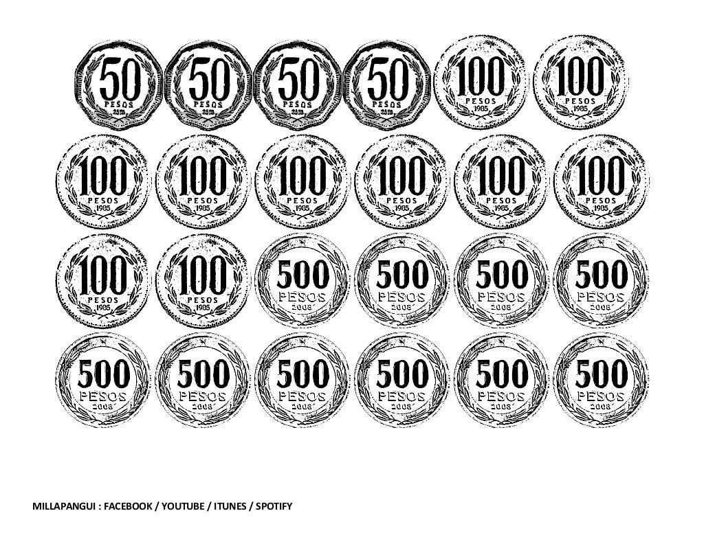 Dibujo De Chilena Para Colorear: Sistema Monetario Chileno Para Colorear