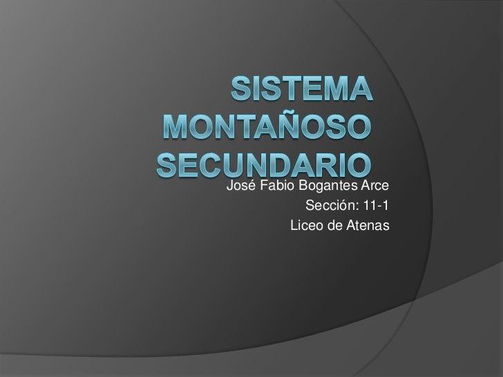 José Fabio Bogantes Arce            Sección: 11-1         Liceo de Atenas