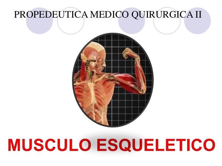PROPEDEUTICA MEDICO QUIRURGICA II<br />UNIDAD 4<br />MUSCULO ESQUELETICO<br />