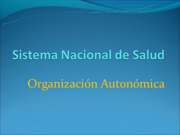 Organización Autonómica