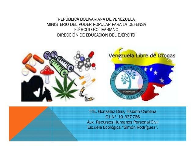 REPBLICA BOLIVARIANA DE VENEZUELA MINISTERIO DEL PODER POPULAR PARA LA DEFENSA EJRCITO BOLIVARIANO DIRECCIN EDUCACI