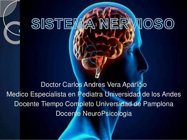 Doctor Carlos Andres Vera Aparicio Medico Especialista en Pediatra Universidad de los Andes Docente Tiempo Completo Univer...