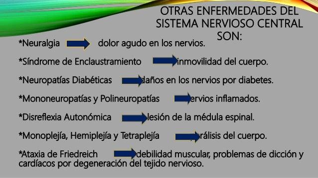 *Neuralgia dolor agudo en los nervios. *Síndrome de Enclaustramiento inmovilidad del cuerpo. *Neuropatías Diabéticas daños...