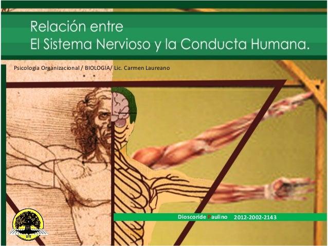 Dioscoride Paulino 2012-2002-2143Psicología Organizacional / BIOLOGIA/ Lic. Carmen Laureano
