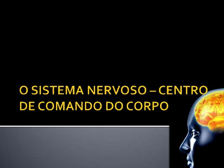 O SISTEMA NERVOSO – CENTRO DE COMANDO DO CORPO<br />