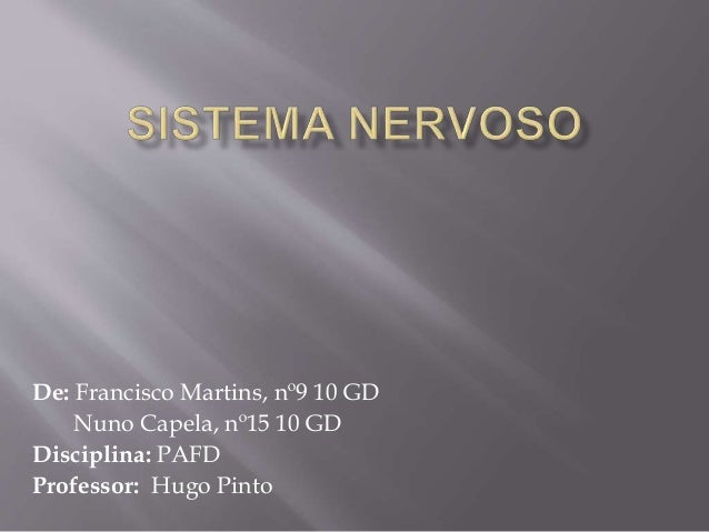 De: Francisco Martins, nº9 10 GD  Nuno Capela, nº15 10 GD  Disciplina: PAFD  Professor: Hugo Pinto
